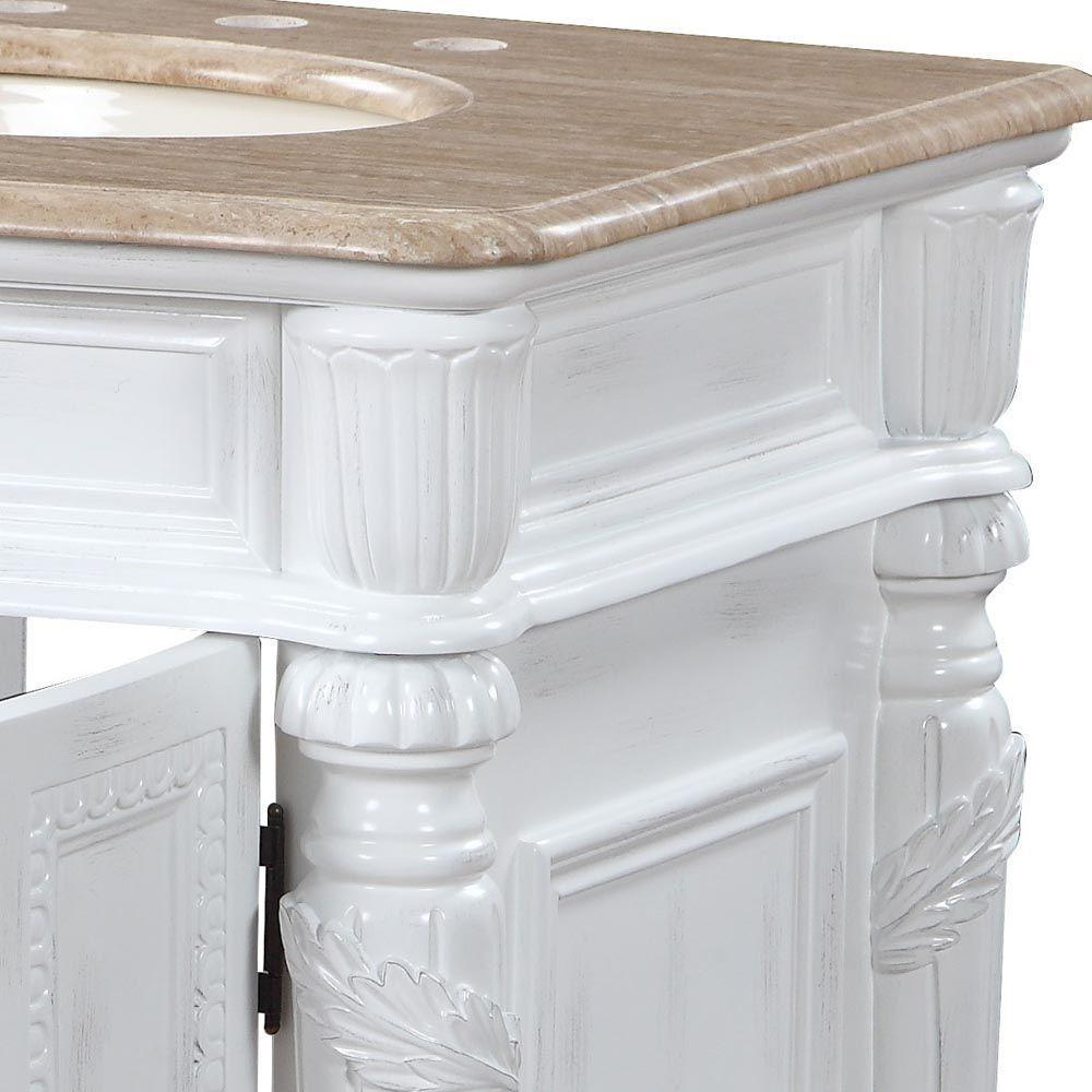 "Silkroad Exclusive 26"" Traditional Single Sink Bathroom Vanity HYP-0134-T-UIC-26"