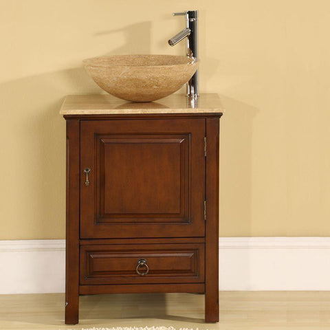 "Silkroad Exclusive 22"" Transitional Single Sink Bathroom Vanity HYP-0158-T-22"