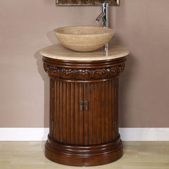 "Silkroad Exclusive 24"" Transitional Single Sink Bathroom Vanity HYP-0160-T-24"