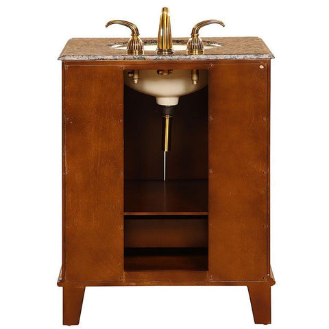 "Silkroad Exclusive 28"" Transitional Single Sink Bathroom Vanity HYP-0207-BB-UIC-28"