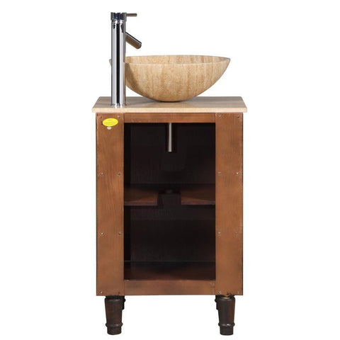 "Silkroad Exclusive 20"" Modern Single Sink Bathroom Vanity HYP-0225-T-20"