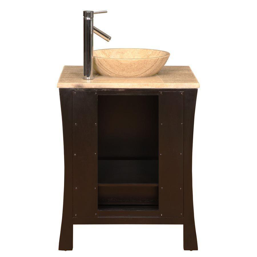 "Silkroad Exclusive 26"" Modern Single Sink Bathroom Vanity HYP-0711-T-TT-26"