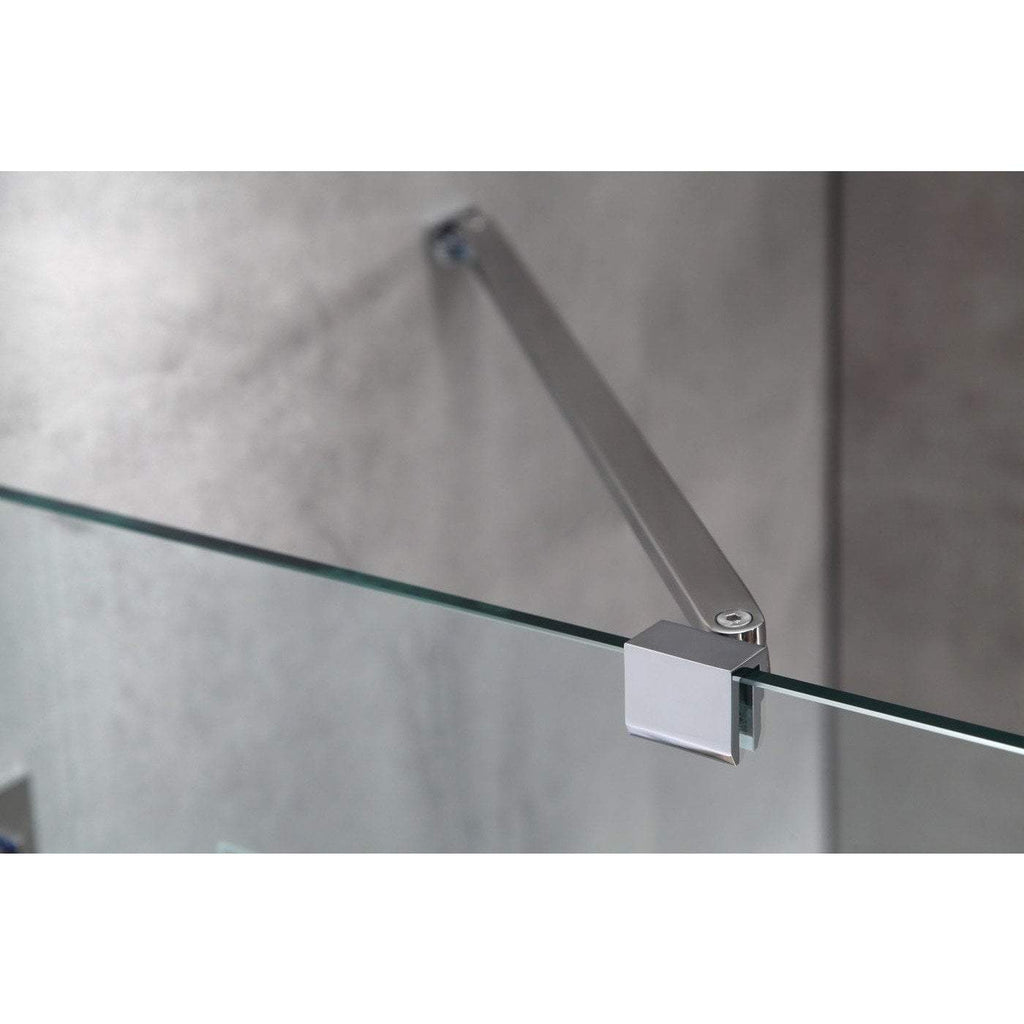 ANZZI Herald Series 48 in. x 58 in. Frameless Hinged Tub Door in Polished Chrome SD-AZ11-01CH