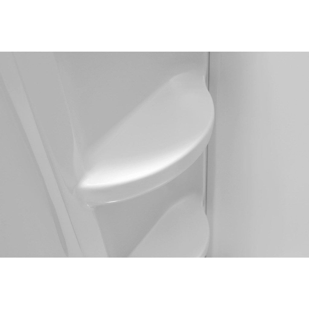 ANZZI Lex-Class 60 in. x 36 in. x 60 in. 3-piece Direct-to-Stud Alcove Shower Surround in White SW-AZ008WH