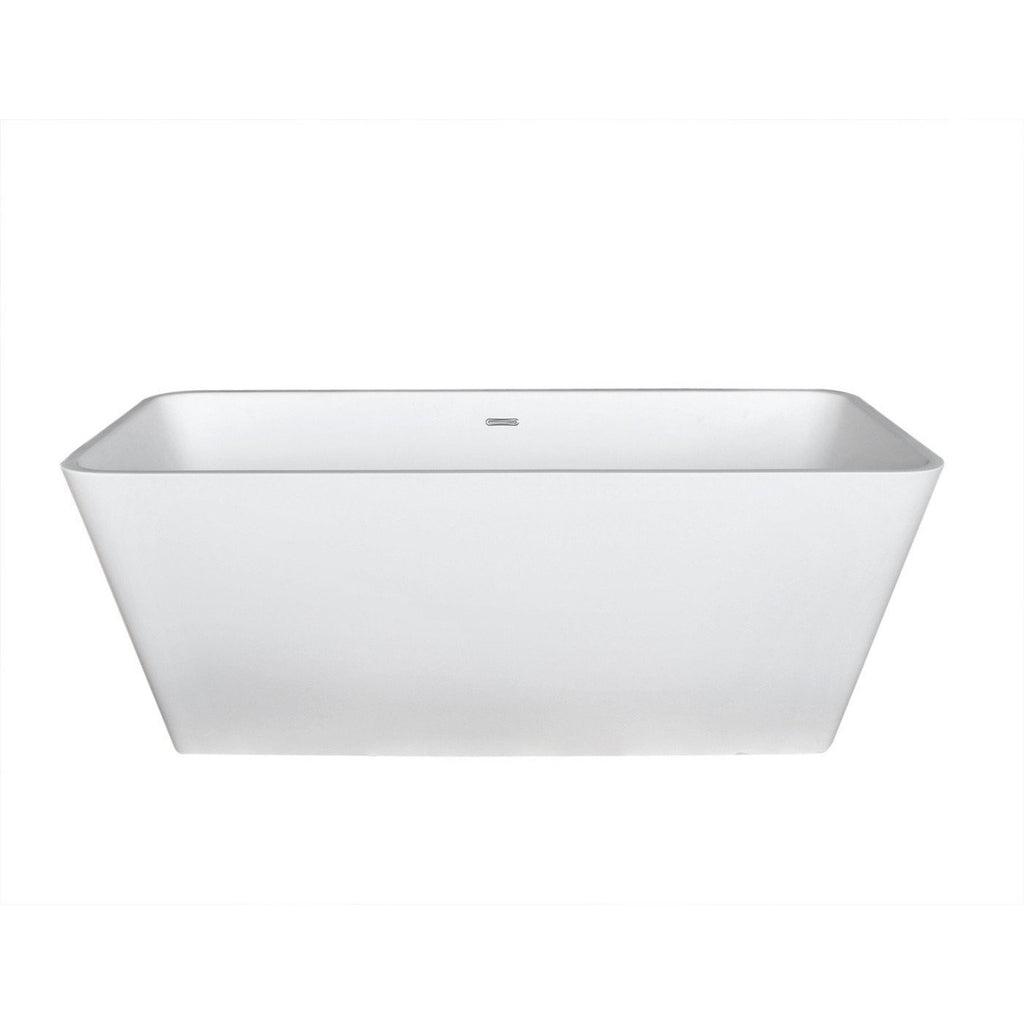 ANZZI Cenere Freestanding Bathtub in Matte White FT-AZ501