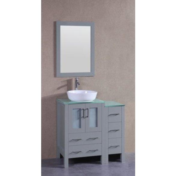 "Bosconi 36"" Single Vanity Bathroom Vanity AGR124BWLCWG1S"