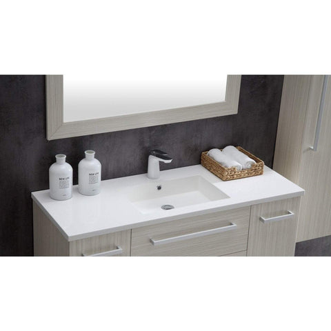 ANZZI Conques 48 in. W x 20 in. H Bath Vanity in Rich White V-CQA031-48