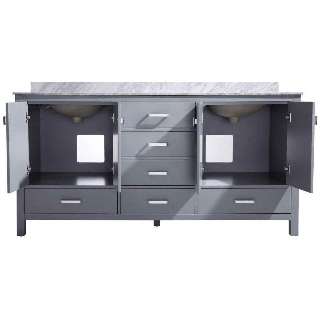 ANZZI Chateau 72 in. W x 36 in. H Bath Vanity in Rich Gray V-CHN013-72