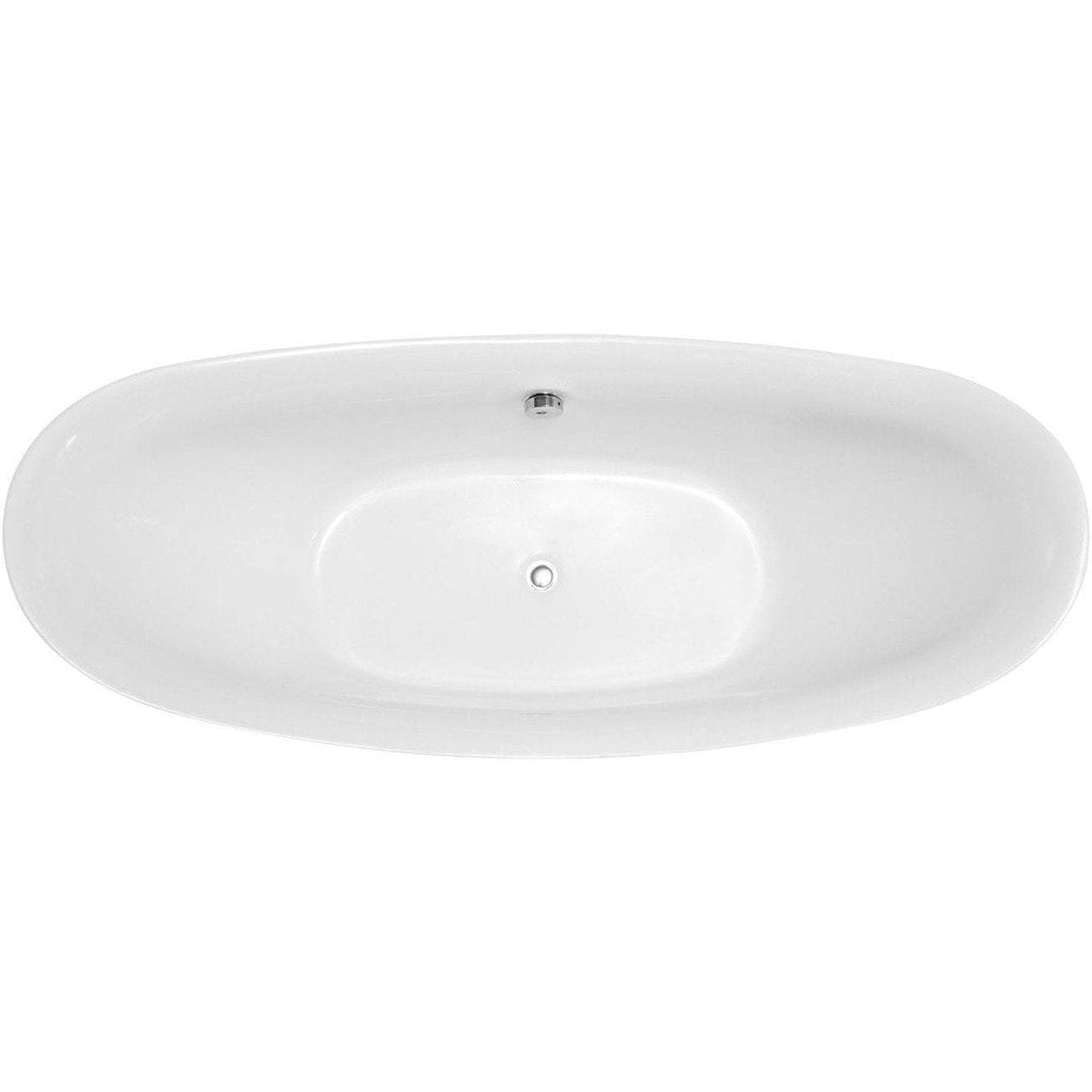 ANZZI Reginald Series  Freestanding Bathtub in White FT-AZ091