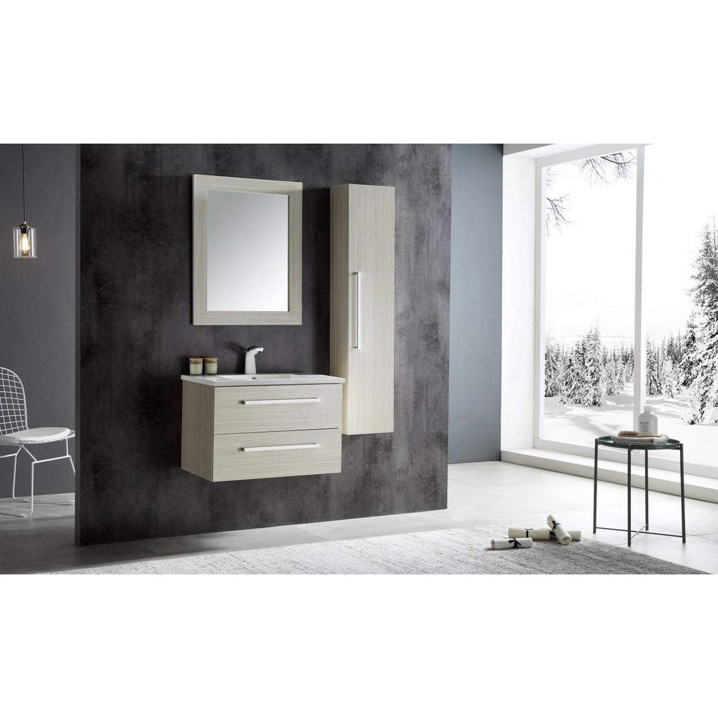 ANZZI Conques 30 in. W x 20 in. H Bath Vanity in Rich White V-CQA001-30
