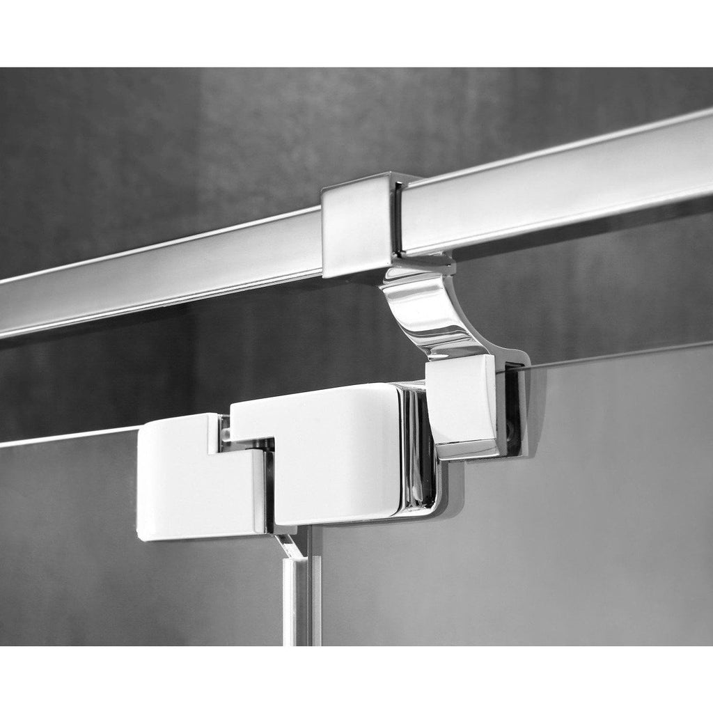 ANZZI Grove Series Shower Door in Chrome with Handle SD-AZ30CH