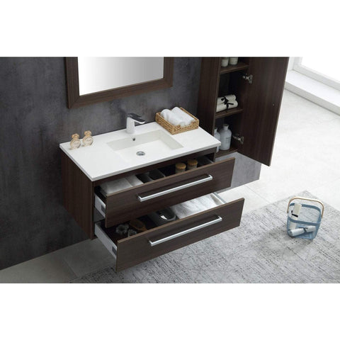 ANZZI Conques 39 in. W x 20 in. H Bath Vanity in Rich Brown V-CQA007-39