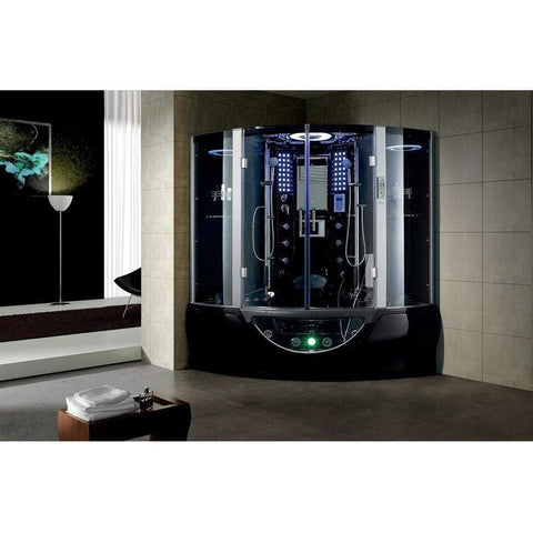 Maya Bath Valencia Computerized Steam Shower 107 - Black