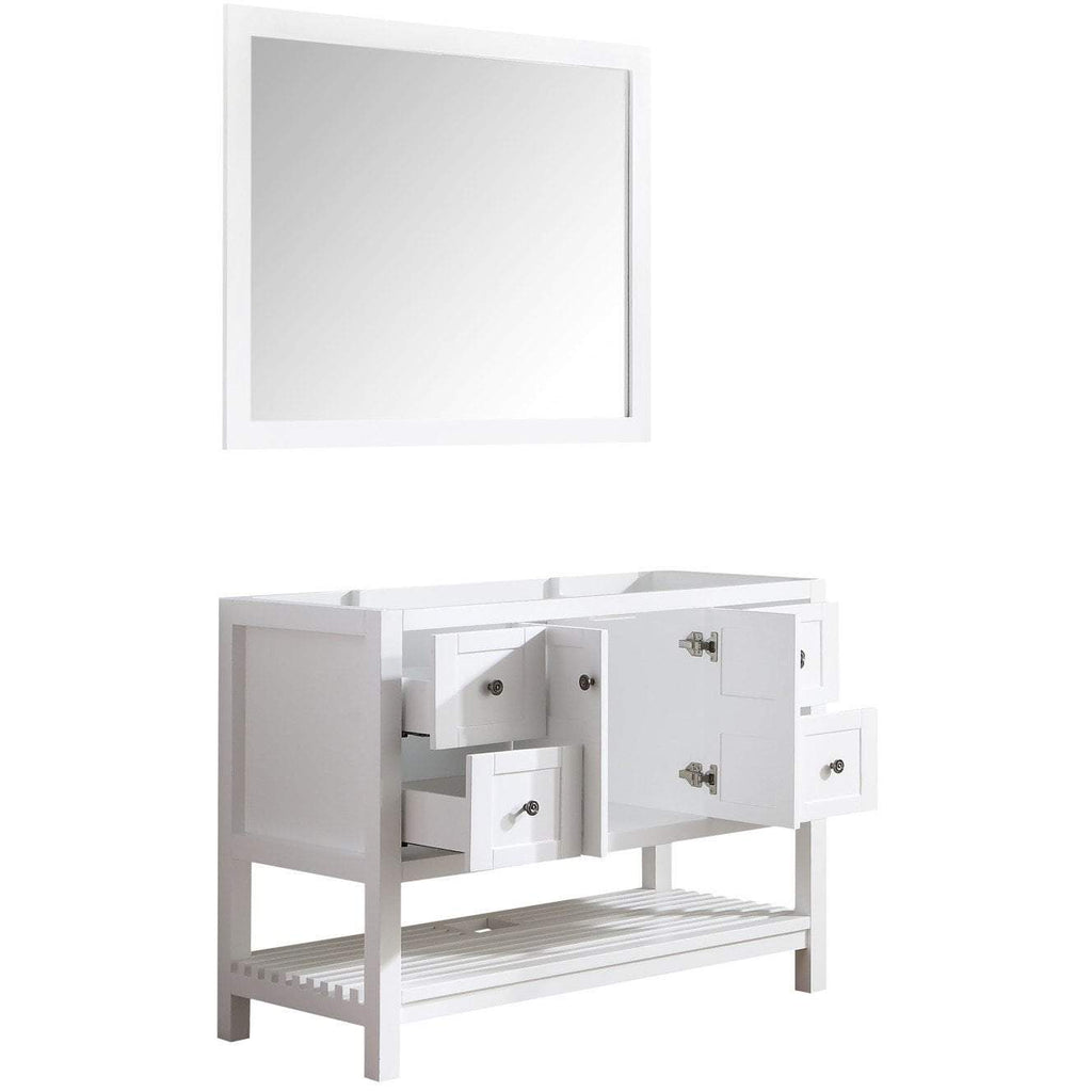 ANZZI Montaigne 36 in. W x 35 in. H Bathroom Vanity Set in Rich White V-MGG011-36