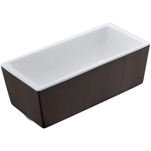 ANZZI Rook Series Freestanding Bathtub in Mahogany FT-AZ205