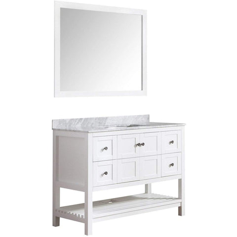 ANZZI Montaigne 48 in. W x 35 in. H Bath Vanity in Rich White V-MGG011-48