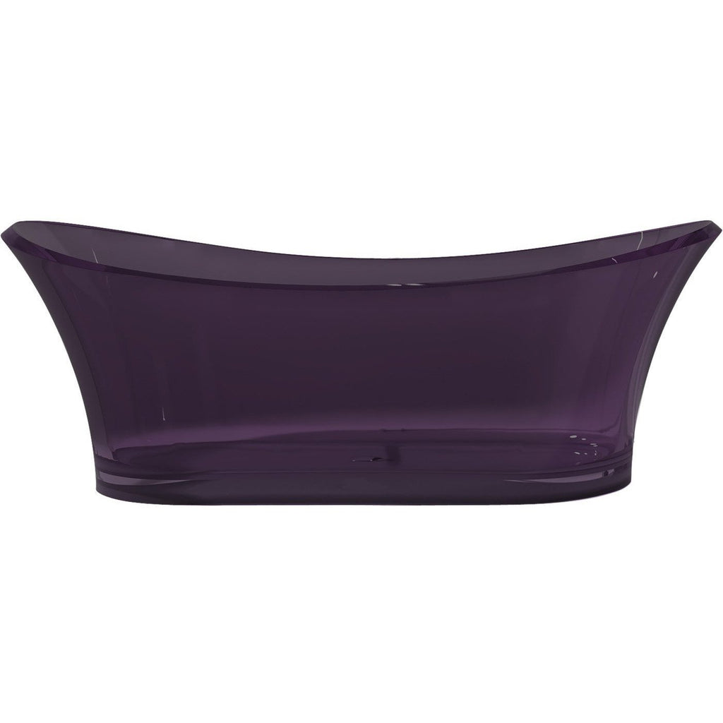 ANZZI Azul Freestanding Bathtub in Evening Violet FT-AZ520-PU