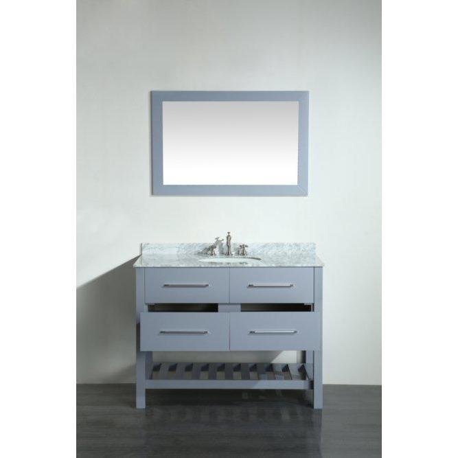 Bosconi 43'' Contemporary Single Bathroom Vanity SB-250-6GRCM