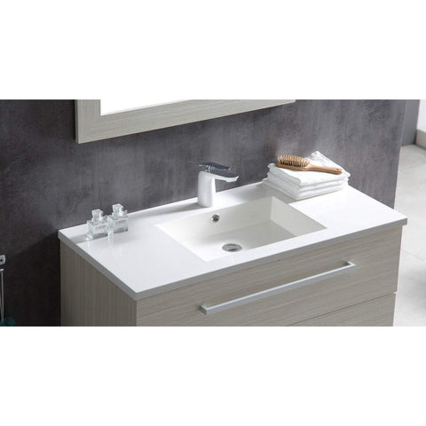 ANZZI Conques 39 in. W x 20 in. H Bath Vanity in Rich White V-CQC001-39