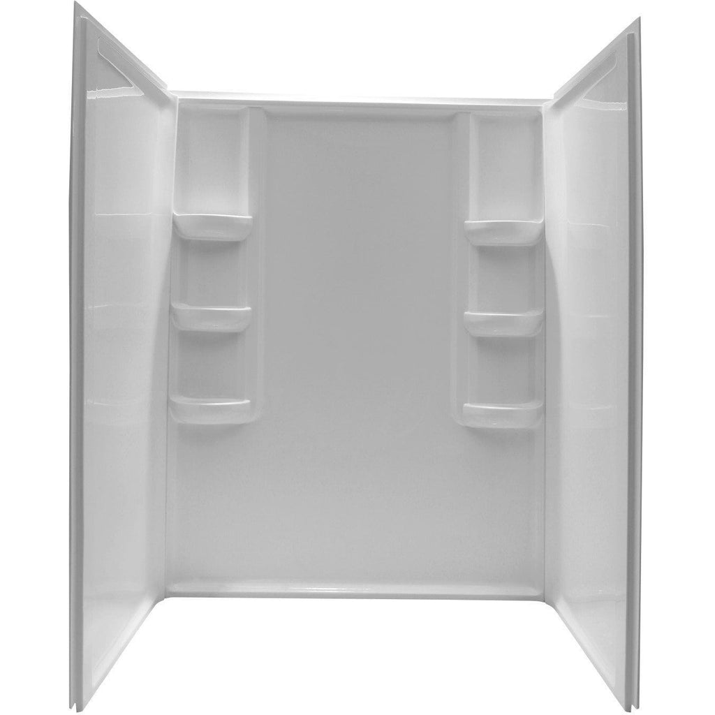 ANZZI Lex-Class 60 in. x 36 in. x 74 in. 3-piece Direct-to-Stud Alcove Shower Surround in White SW-AZ009WH