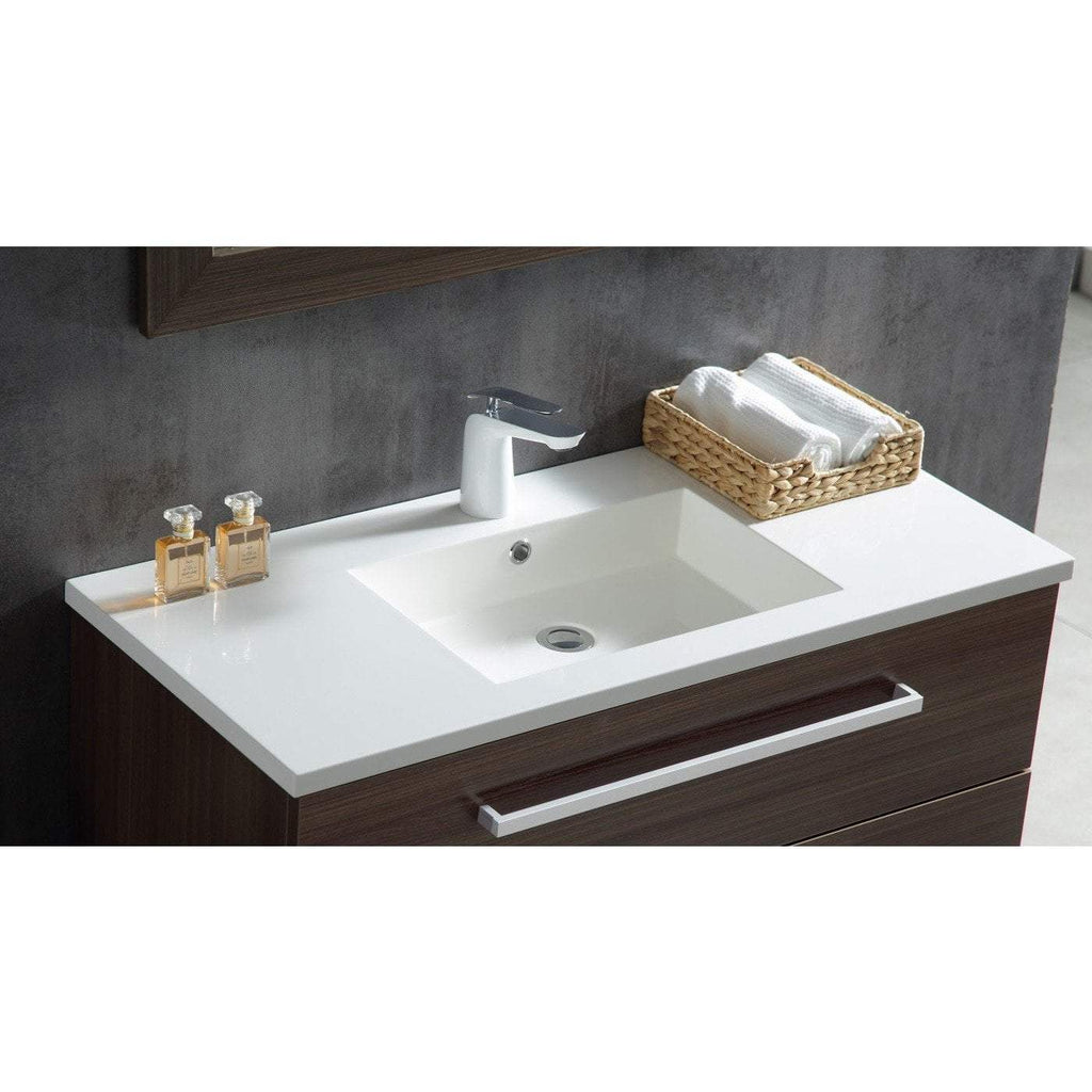 ANZZI Conques 39 in. W x 20 in. H Bath Vanity in Rich Brown V-CQC007-39