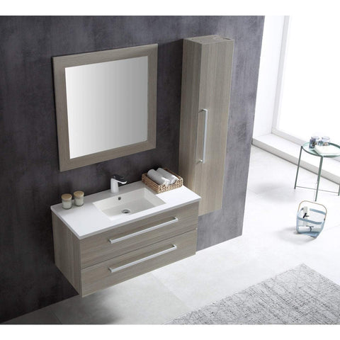 ANZZI Conques 39 in. W x 20 in. H Bath Vanity in Rich Gray V-CQA003-39