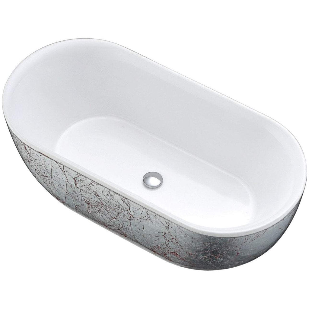 ANZZI Knight Series Freestanding Bathtub in Crimson Snow FT-AZ524