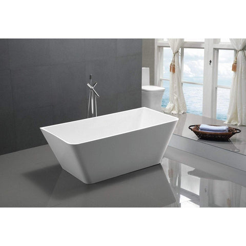 ANZZI Zenith Series Freestanding Bathtub in White FT-AZ099