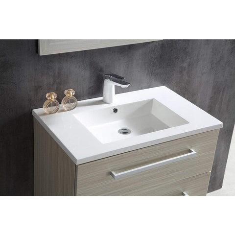 ANZZI Conques 30 in. W x 20 in. H Bath Vanity in Rich White V-CQC001-30
