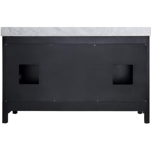 ANZZI Chateau 60 in. W x 36 in. H Bath Vanity in Rich Black V-CHO015-60