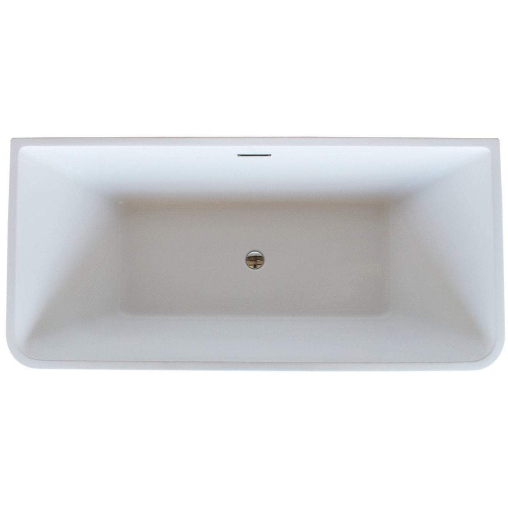 ANZZI Majanel  Center Drain Freestanding Bathtub in Glossy White FT-AZ005