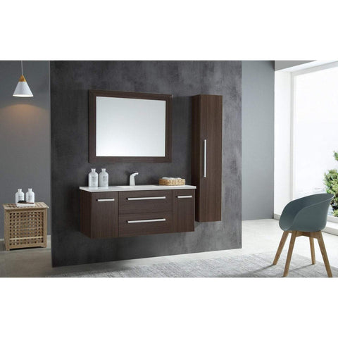 ANZZI Conques 48 in. W x 20 in. H Bath Vanity in Rich Brown V-CQA037-48