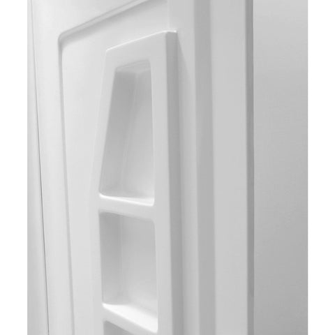 ANZZI Forum 60 in. x 36 in. x 74 in. 3-piece Direct-to-Stud Alcove Shower Surround in White SW-AZ010WH