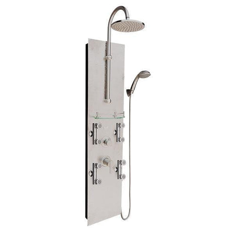 PULSE ShowerSpas Vaquero Hammered Brushed Nickel Shower Panel 1027