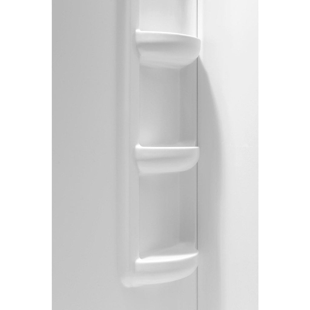 ANZZI Lex-Class 60 in. x 36 in. x 74 in. 2-piece Direct-to-Stud Corner Shower Surround in White SW-AZ005WH