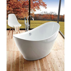 "Legion Furniture 67.3"" Freestanding Bathtub in White WE6513"