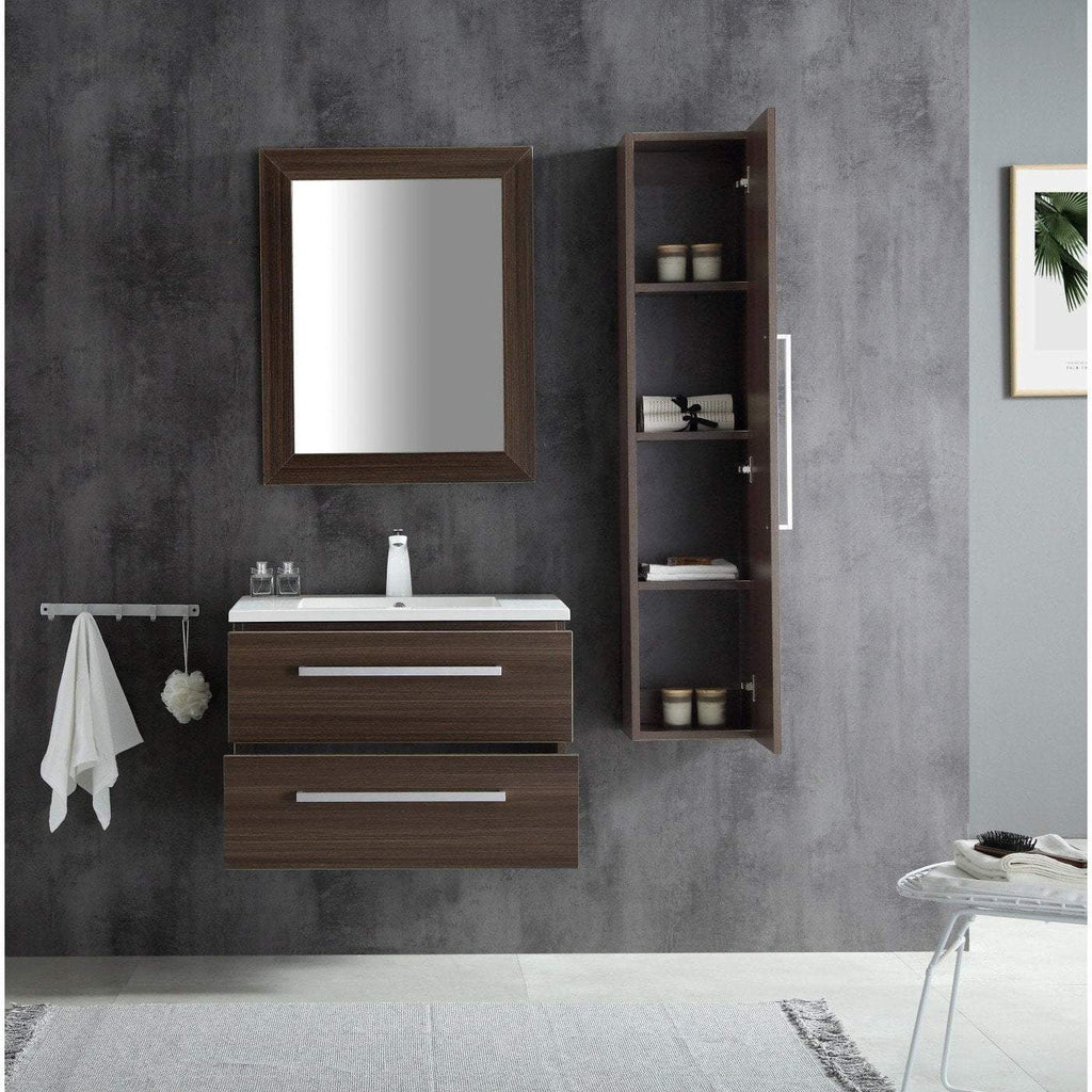 ANZZI Conques 30 in. W x 20 in. H Bath Vanity in Rich Brown V-CQA007-30