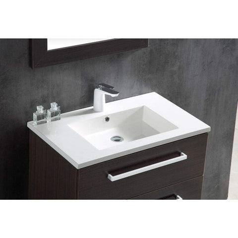 ANZZI Conques 30 in. W x 20 in. H Bath Vanity in Rich Brown V-CQC036-30