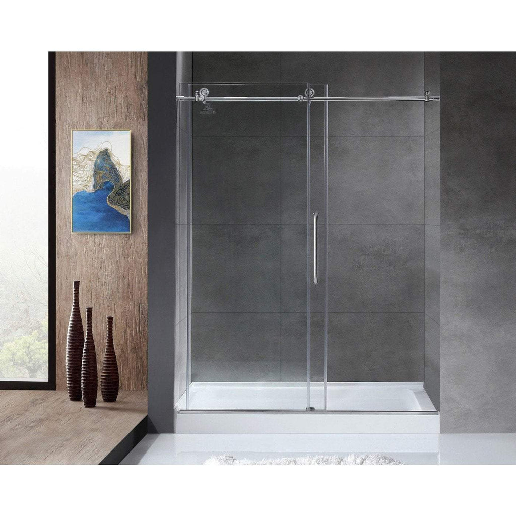 ANZZI Madam Series  Shower Door in Brushed Nickel SD-AZ13-02BN