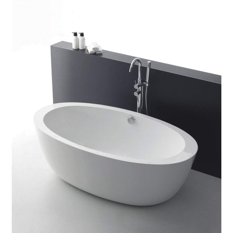 ANZZI Yield Series Freestanding Bathtub in White FT-AZ111