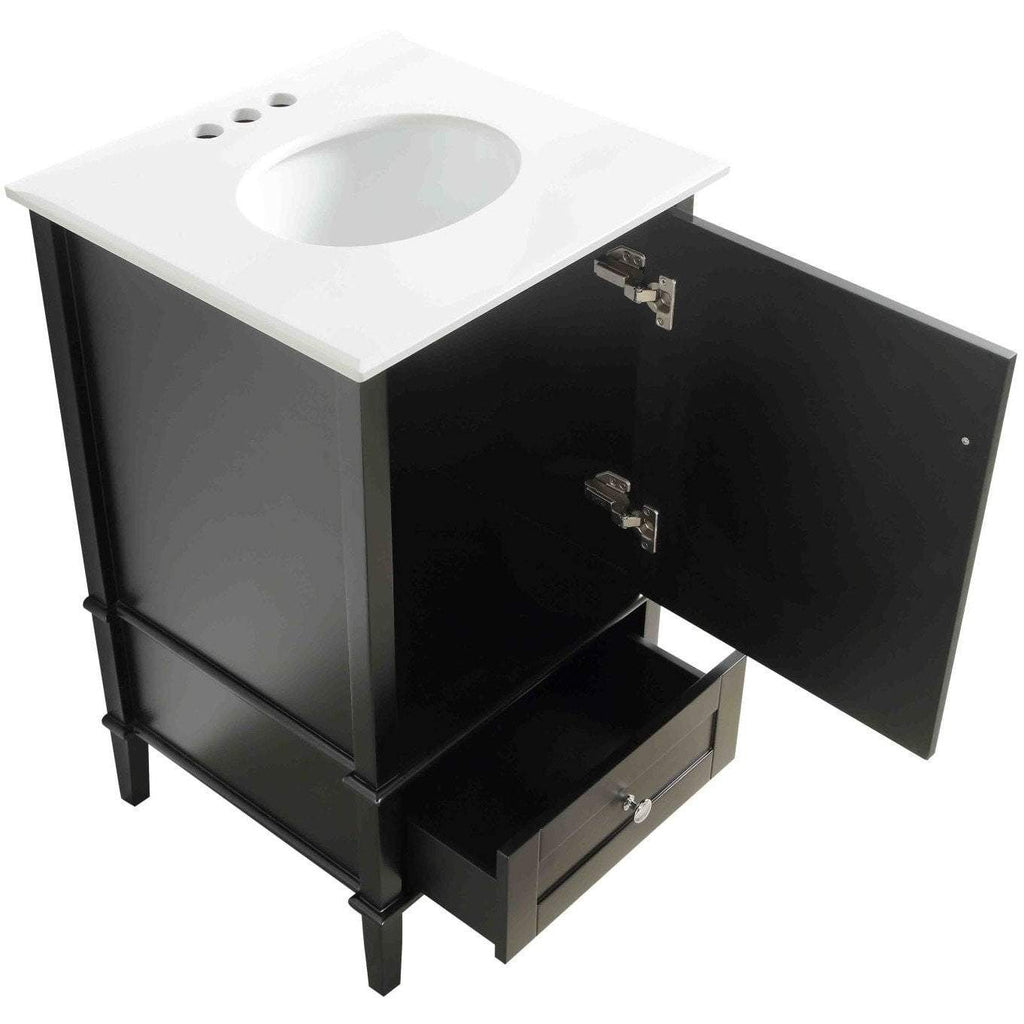 ANZZI Alexander Bath Vanity in Rich Black V-AXG022-21