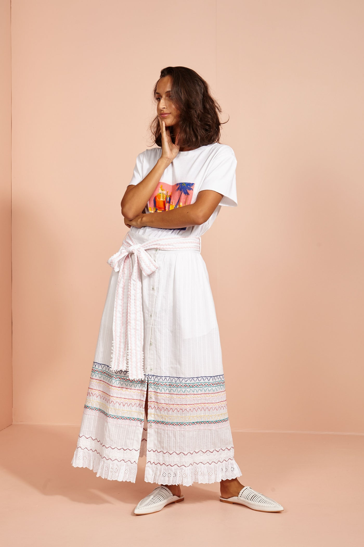 Lake Palace Maxi Skirt