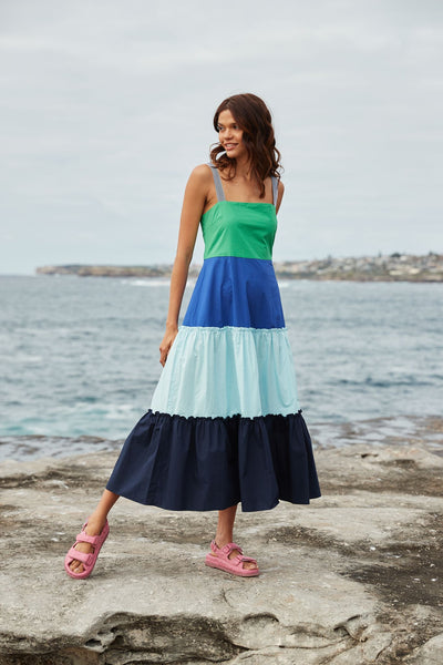 Maxi Pop Dress / Emerald