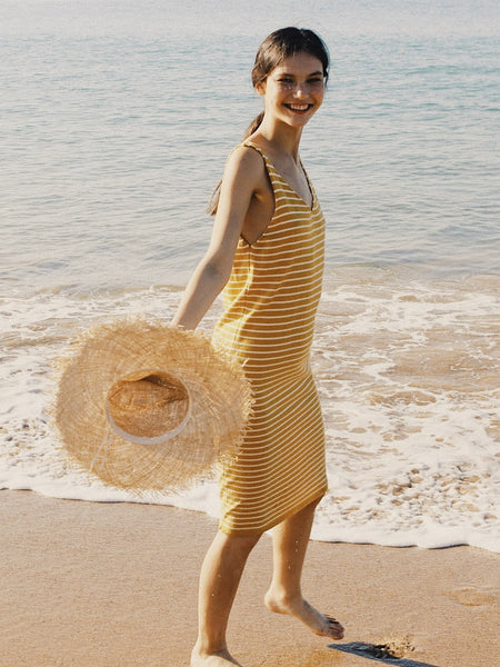 Ocre Knitted Breton Dress