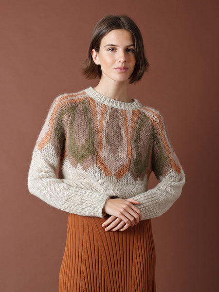 Alpaca Tricot Sweater - Crudo