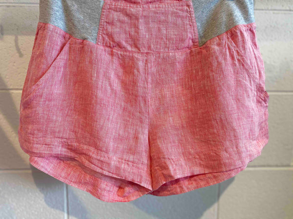 Cherry Linen Shortie Shorts