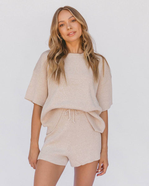 Alex Knit Shorts / Sand