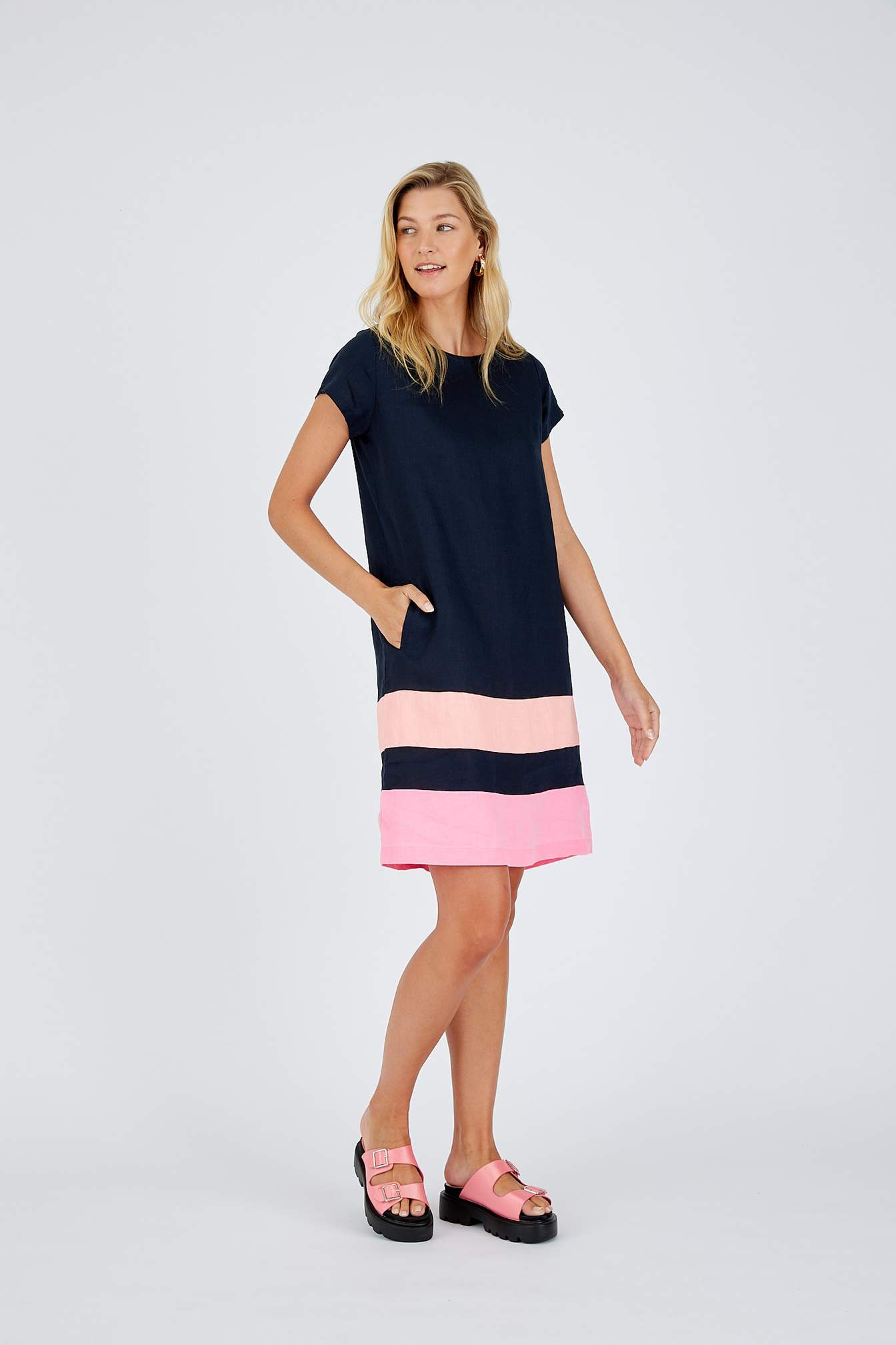 Connie French Navy Dress