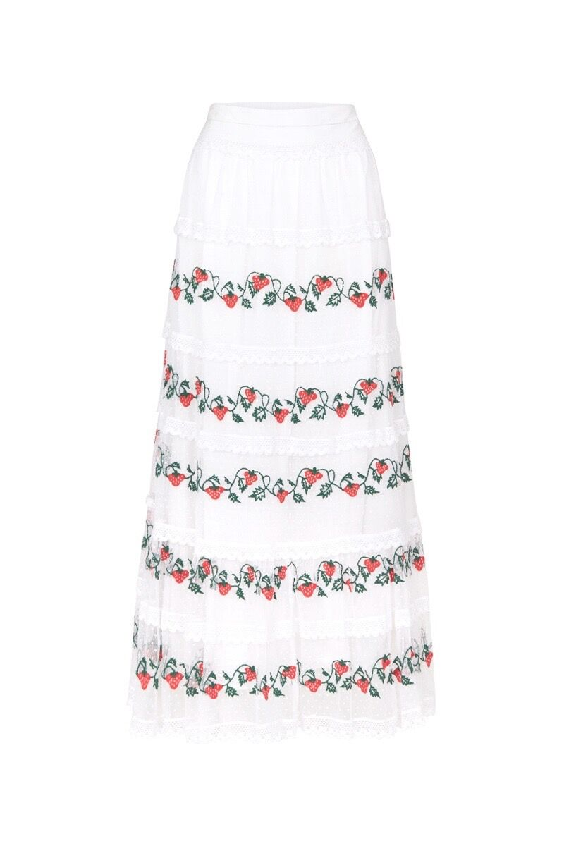 Tara Berry Skirt (White)