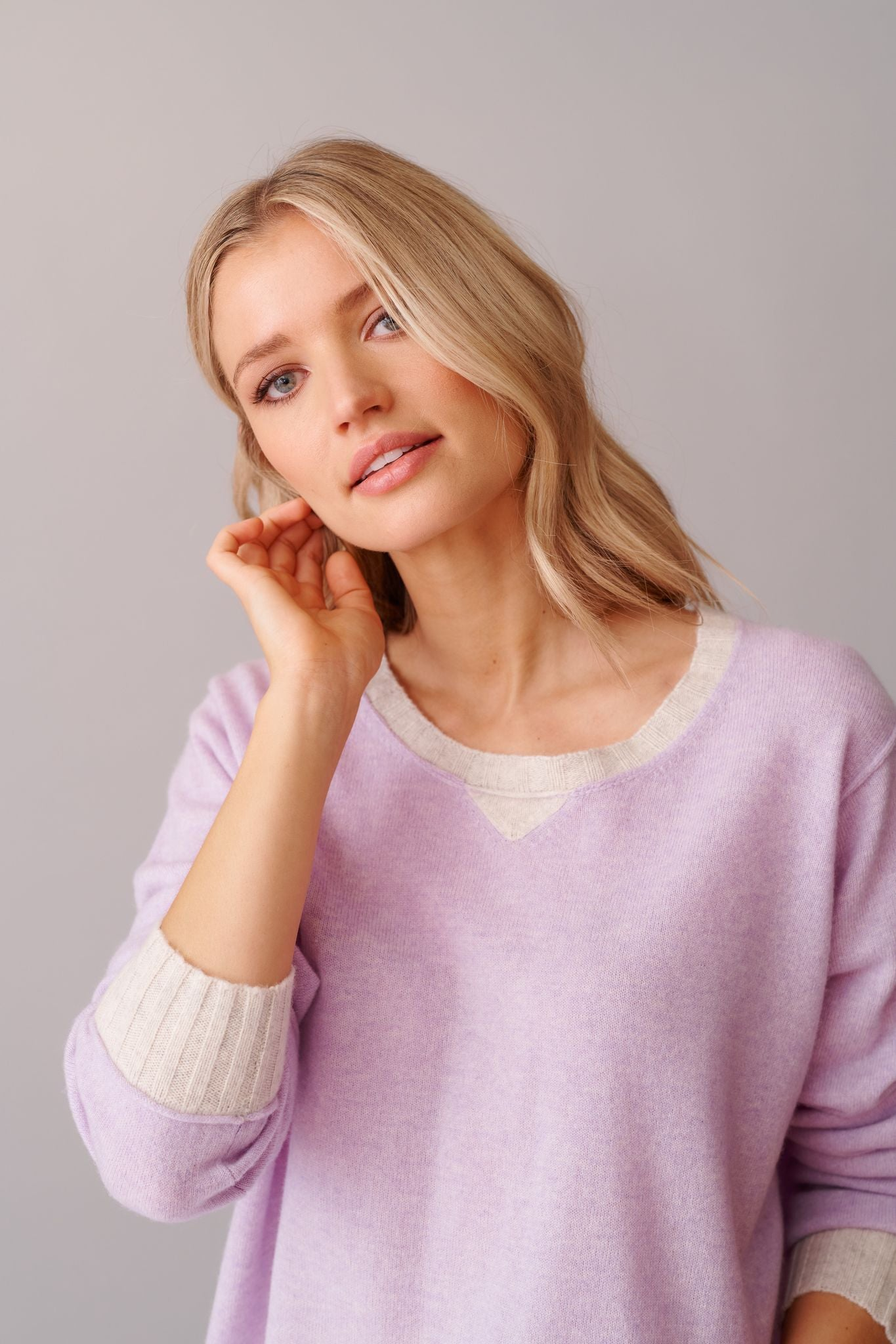Lavender Boyfriend Sweater